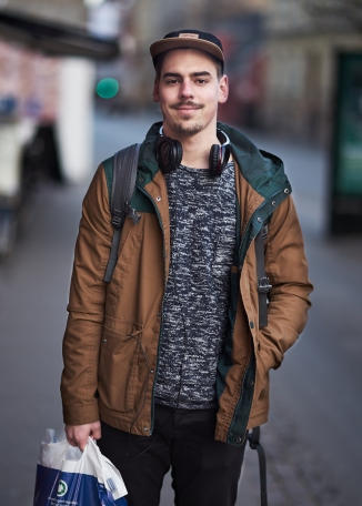 Ricko lives in Copenhagen. I caught up with him while he was walking back home after doing some grocery shopping. I explained to him about the project and he readily obliged for his picture to be taken!